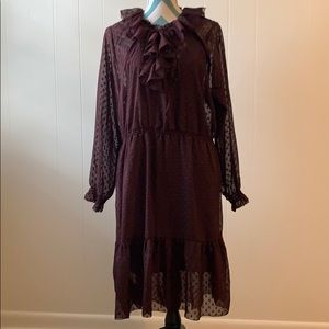 H&M Maroon Dress with slip